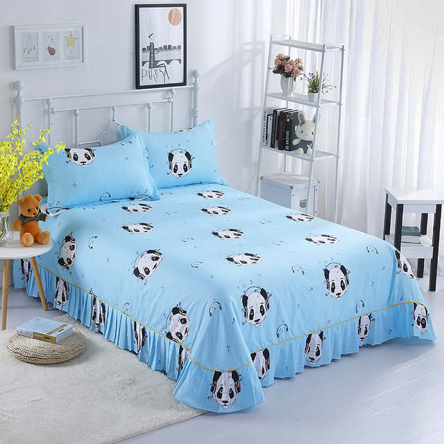 100 Cotton Modern Style Blue Black And White Printing Patterns