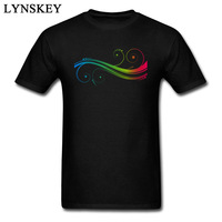 Colorful Swirl Spoondrift Tops T Shirt For Men Funny Design 3D Print 100 Cotton Fabric Casual