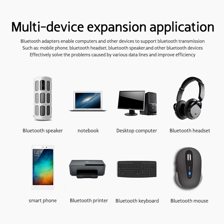 Rocketek Bluetooth Adapter USB Dongle for Computer PC Wireless Mouse  Bluetooth Speaker 4 0 Music Receiver USB Bluetooth Adapter