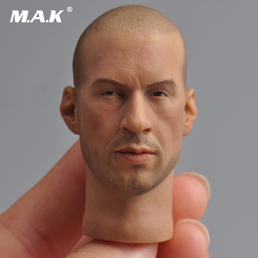 Fast and Furious 8 Van Diesel Male Head Sculpts 1/6 Scale Mini Lifelike Man HeadFor 12 Action   Figure Body Accessory 1 6th scale figure accessory iron man headsculpt tony stark head shape for 12 action figure doll not included body and clothes