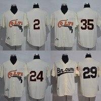 Houston Colts jersey de béisbol 35 JOE MORGAN 2 Nellie Fox 24 Jimmy Wynn película retroceso béisbol Jersey S-3XL envío libre