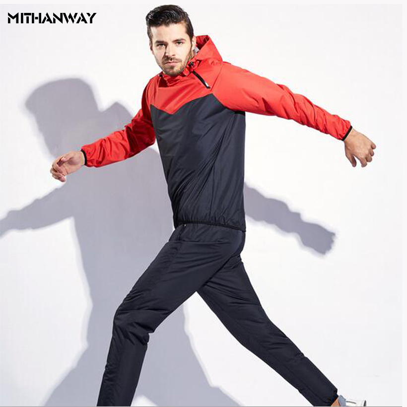 Men Women Sports Running Jacket Sweat Suit Lose Weight Sportswear Men Sport Sets Gym Cloth Fitness Training Track Jacket