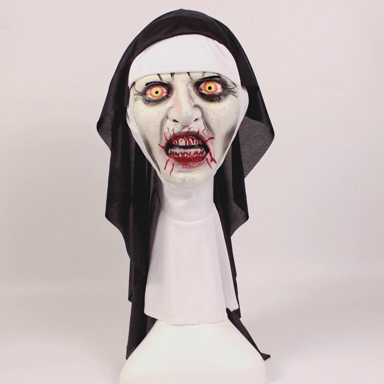 The Conjuring 2 SCARY NUN MASK Latex Fancy Dress Prank Valak Horror mask Halloween Party