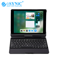 Rotate 7 Color Backlit iPad Keyboard Case Bluetooth Keyboard Wireless Thin Light Case With Bluetooth Keyboards For iPad Air