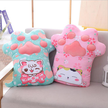 цена на Creative Cute Cherry Cat Claw Plush Toys Stuffed Doll Toy Plush Pillow Cushion Children Toys Girls Birthday Gift