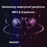 Philips оригинальный Водонепроницаемый MP3 Player Плавание влагонепроницаемые Спортивные наушники Bluetooth 4,2 USB MP3 музыкальных плееров гарнитура SA6608