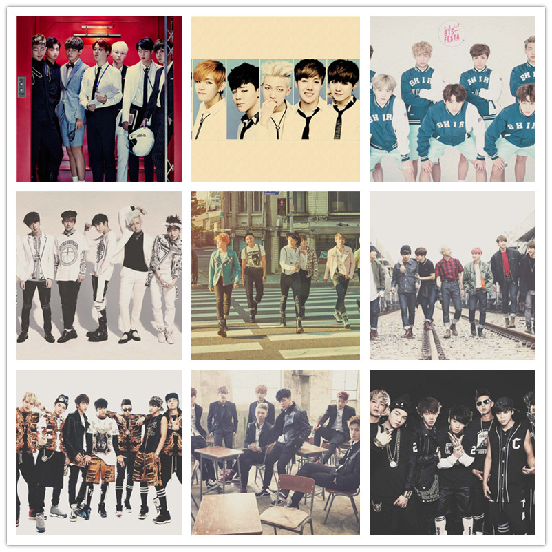 BTS Retro Photo Poster Music Bar Cafe Bedroom Wall