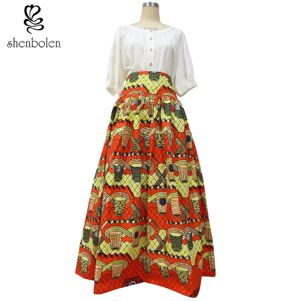 2017 African batik clothing for women Lady African print maxi skirt Ankara skirt wax clothing super wax 100% cotton no lining