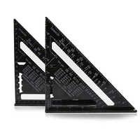 7 alualualuminun liga triângulo ângulo régua calibre 90 graus transferidor métrica/Polegada régua quadrada para ferramentas de medição de madeira