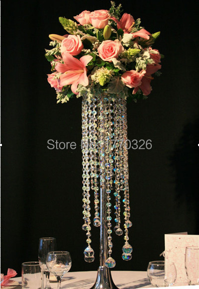 Free Shipment 10pcs Lots Wedding Events Acrylic Crystal Centerpieces Ouge