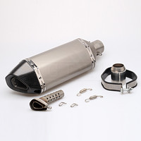 Universal Motorcycle Carbon filter Akrapovic Exhaust Pipe Moto Escape Silencer For Most Motocross ATV Scooter Dirt Bike Slip on