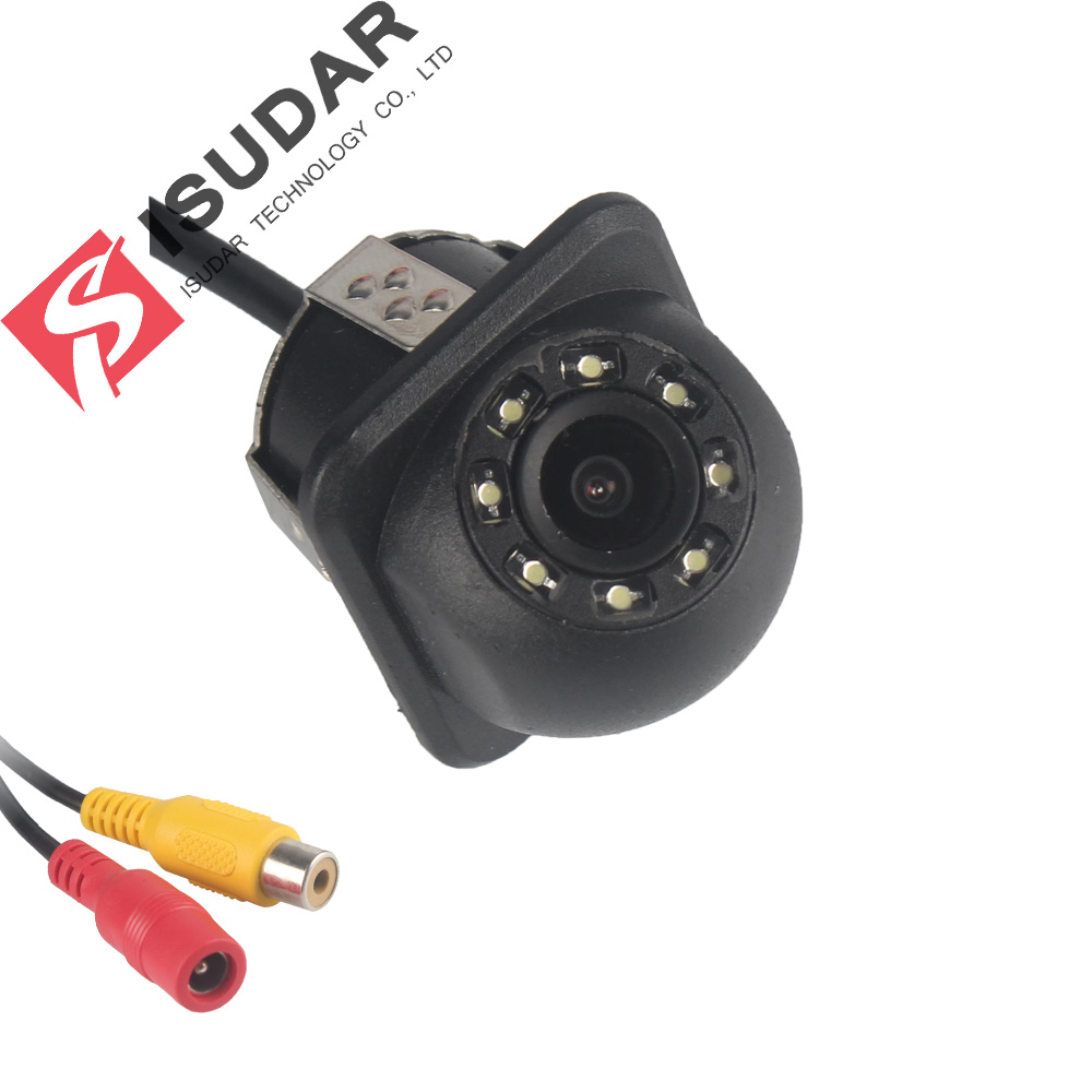 Isudar Rear 8 LED HD With Night Vision 170 Degree Waterproof Reverse Camera Color