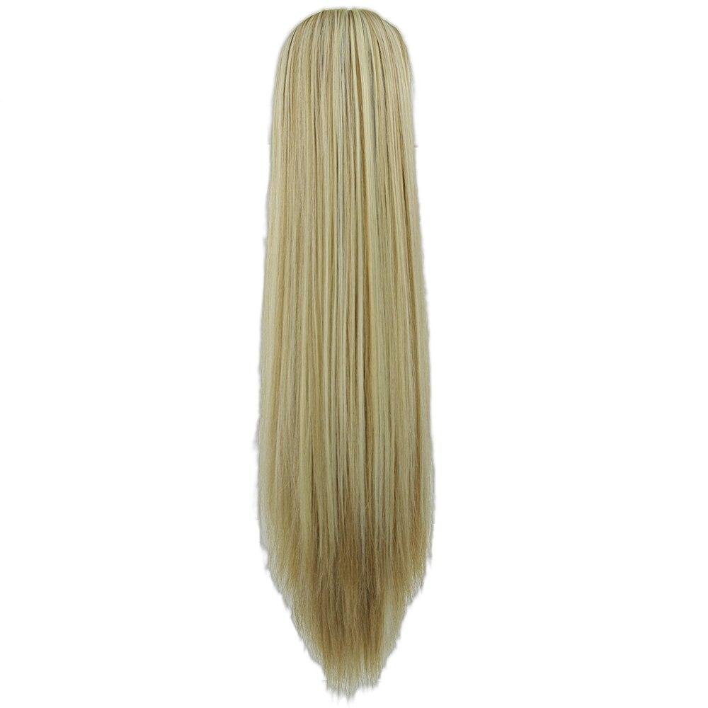 Haarverlängerung Und Perücken Soowee Lange Gerade Clip In Haarverlängerungen Stück Blonde Graues Kleines Pferdeschwanz Synthetische Haar Pferdeschwanz Klaue Synthetische Pferdeschwänze