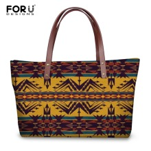 FORUDESIGNS New Fashion Women Large Capacity Handbags 3D Vintage Pattern Tote Cross-body Bag For Female Shoulder Girls