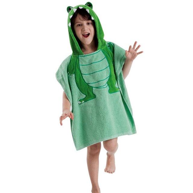 Baby Bathrobes Children Cloak Kids Boys Girls Hooded Terry Bathrobe Baby Beach  Tower Bath Robes Towel c60825ff9