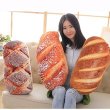 Funny Bread Pattern Pillow Soft Massage Neck Back PP Cotton Filler Health Care Comfortable Cushion