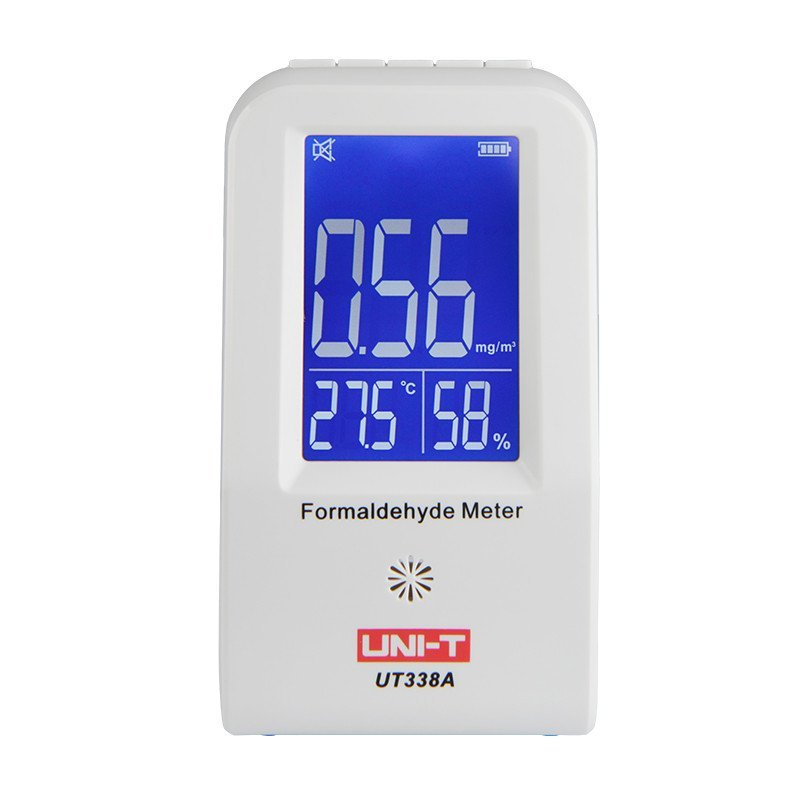 UNI-T UT338A Indoor Formaldehyde Detector LCD Display High Precision Formaldehyde Data Logger Air Monitor Hygrometer Thermometer digital indoor air quality carbon dioxide meter temperature rh humidity twa stel display 99 points made in taiwan co2 monitor