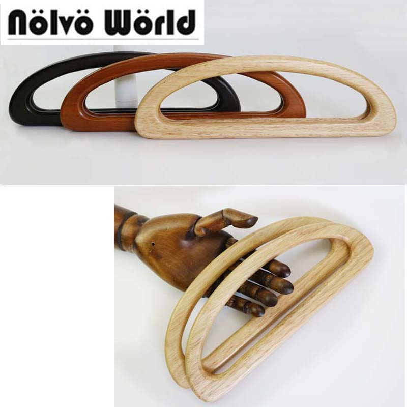5 pairs 10 pieces 24X9cm Oak tree natural wood handle for knit bags Retro solid wood
