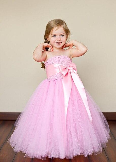 fb2a8fd83 party princess purple tutu tulle baby flower girl wedding dress ...