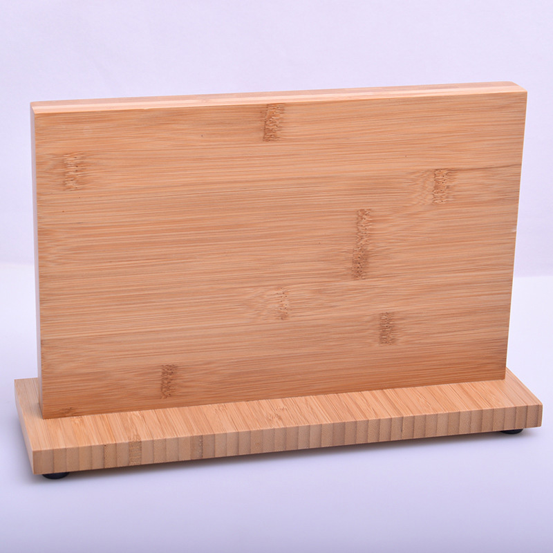 Super Strong Magnetic Knife Holder Solid Wood Bamboo Kitchen Knife Stand Magnet Knife Block Storage Stand Rack Chef Utensil Tool 7