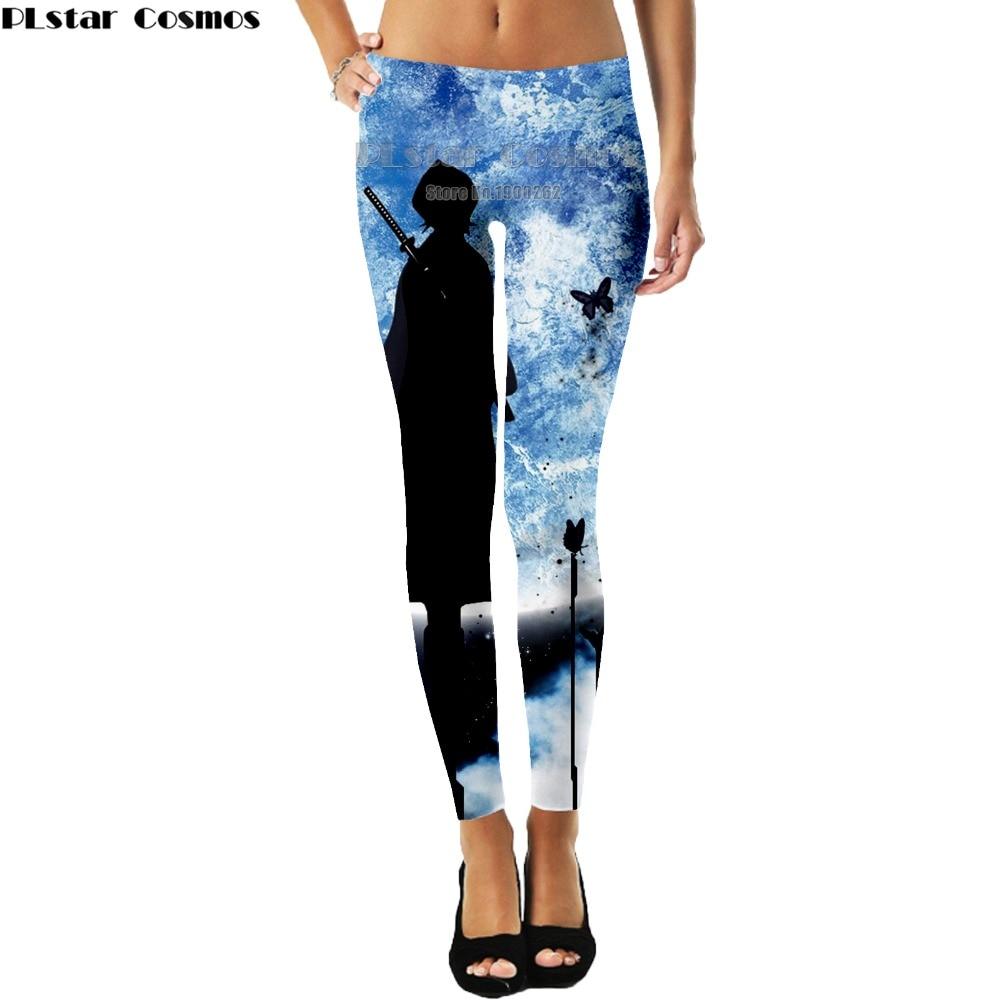 PLstar Cosmos  Anime Naruto Uzumaki Naruto Sasuke  Leggings Thin  women Pants 3D Print Thin Leggings Pants Plus size S-5XL