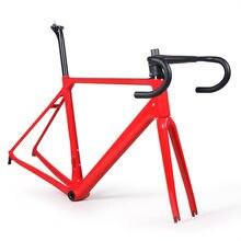 Много цветов углеродного волокна Дорога велосипедная Рама с вилкой зажим подседельный углерода дорожный велосипед рама 880 г Бесплатная доставка