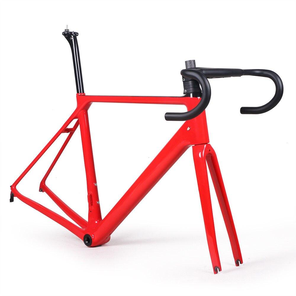 Molti colori in fibra di carbonio bici da strada telaio forcella morsetto reggisella In Carbonio Strada della bicicletta Telaio 880g spedizione gratuita
