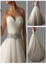 Vestidos de novia White Sweetheart Ture Love 2015 Wedding DressNoble Floor-Length Dress Bridal Gown Vestido