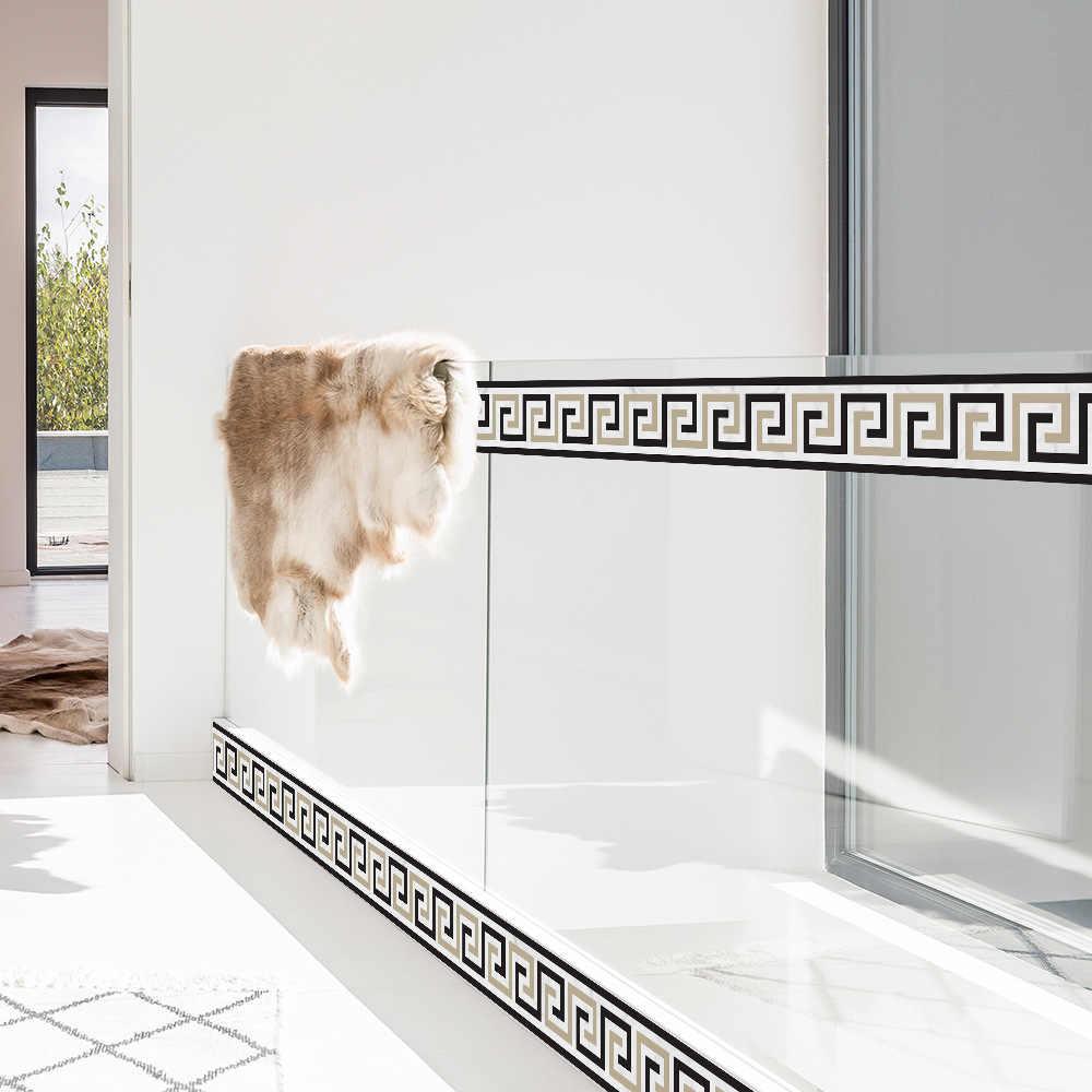 Linha de Cintura Funlife pvc estação de lavagem de cozinha canto linha lateral decorado adesivos de parede da sala de jantar Do Hotel corredor escada rodapé