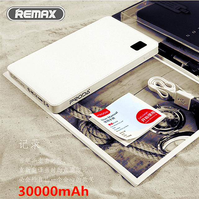REMAX Ultra Thin Mobile Power Bank 4 USB External Battery Charger bateria externa Universal Powerbank For iPhone 6s Smartphones