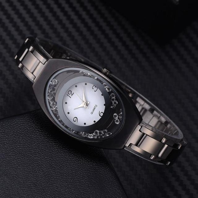 צמיד זהב מתכת יפה פשוט ומזכרות גבירותיי שעוני יד אופנתי גבירותיי עסקים טמפרמנט נשים של שעון # D