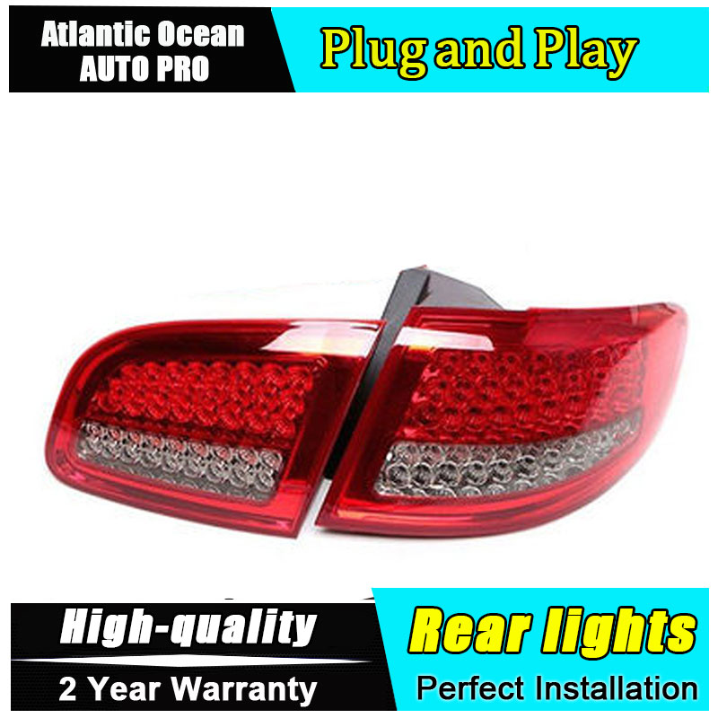 Car Styling for Hyundai Santa Fe LED Taillights 2007-2013 for New Santa Tail Lamp Rear Lamp Fog Light For 1Pair ,4PCS akd car styling for hyundai santa fe led tail lights 2007 2013 new santa tail light rear lamp drl brake park signal