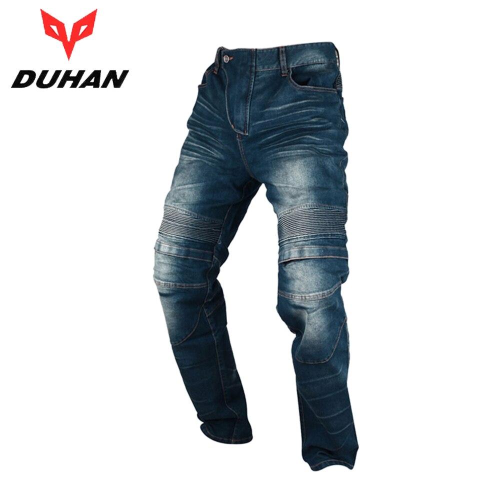 Духан мото брюки Для Мужчинs мотоцикл колено защитный мото джинсы брюки ветрозащитный мотогонок джинсы Повседневное брюки