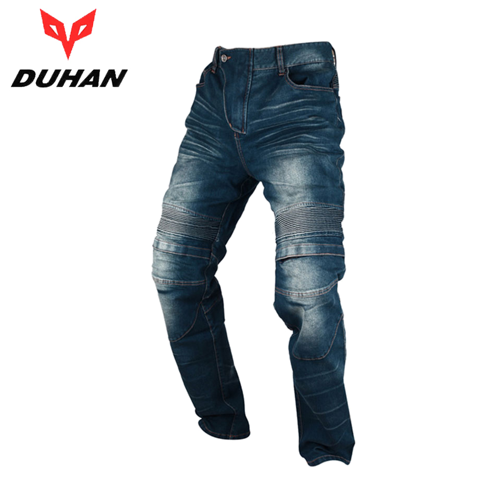 DUHAN Motorcycle Pants Men's Motorbike Knee Protective Moto Jeans Trousers Windproof Motorcycle Racing Jeans Casual Pants benkia men motorcycle racing denim pants moto jeans motorbike racing pants pantalon moto motocross clothing