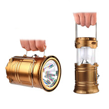 Sale Vioslite Solar Power Camping Light Telescopic Rechargeable Emergency Camping Lamp Led  Portable Lantern Outdoor Light