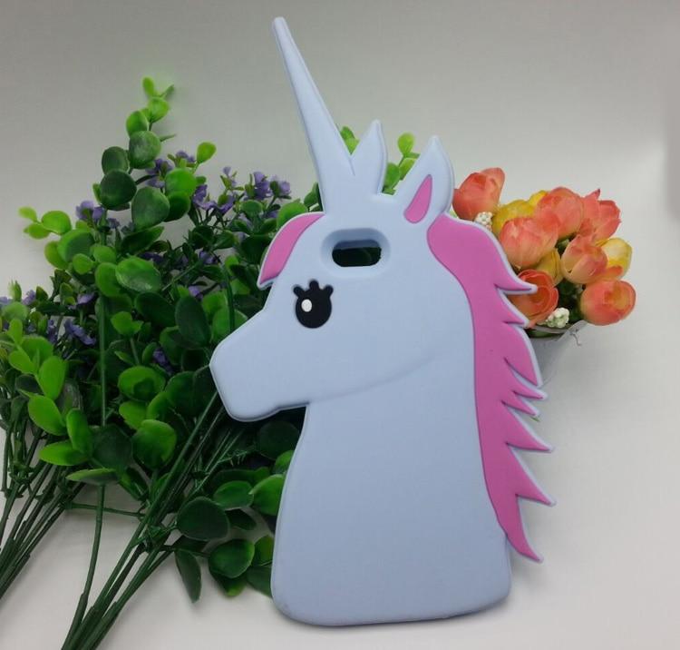"""HTB1eyLILpXXXXc6aXXXq6xXFXXXB - Fashion 3D Cute Cartoon Unicorn Soft Silicon Rubber Case Cover For iPhone 4 4s 5 5s SE 6 7 6s plus 7 plus 4.7/5.5"""" White Horse"""