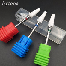 HYTOOS 3 Type Ceramic Nail Drill Bit Rotate Burr Nail Milling Cutter Bits For Manicure Nail Drill Accessories Nail Tools 614T