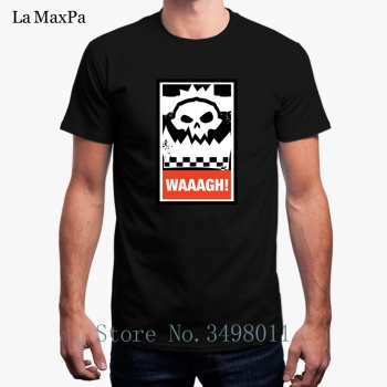 Cheap Sale Waaagh! Orks Greenskins T-Shirt For Men Basic Solid T Shirt For Mens O Neck Fitness Tee Shirt Mand image