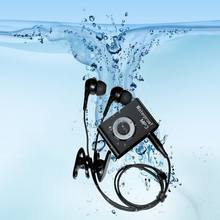 Newest Mini Waterproof Swimming MP3 Player Sports Running Riding MP3 Walkman Hifi Sereo Music MP3 Player With FM Radio Clip(China)