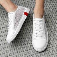 Brand Mesh Casual Shoes Men Breathable Men's Sneakers Shoes Male Walking Footwear White Fashion Summer Big Size 47 Walkerpeak