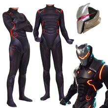 Adult Kids Game Cosplay Costume Omega Oblivion link Zentai Bodysuit Suit Jumpsuits Led Mask Halloween