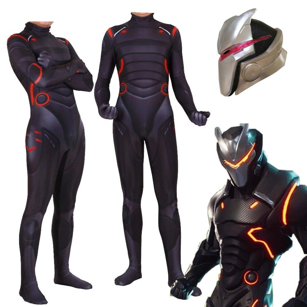 Erwachsene Kinder Spiel Cosplay Kostüm Omega Oblivion link Zentai Bodysuit Anzug Overalls Led Maske Halloween