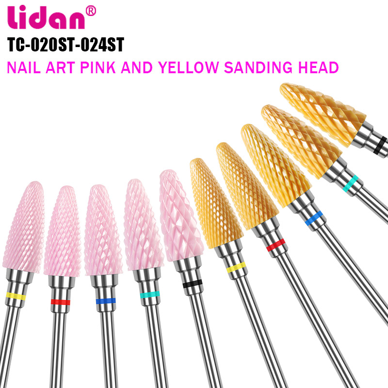 Lidan Ceramic  Drill Bit for Nail  Electric Nail Supplies  Sandpaper Art  Frez  accessoires nails