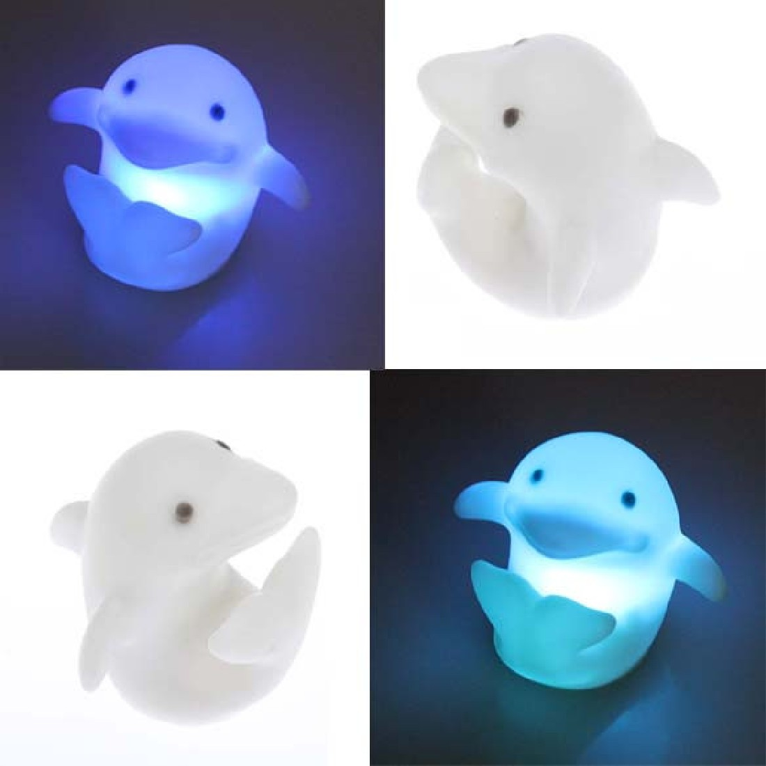 Household Beautiful Lovely Night Light Changing LED Sleep Dolphin Decoration Lamp Party Gift Free Shipping