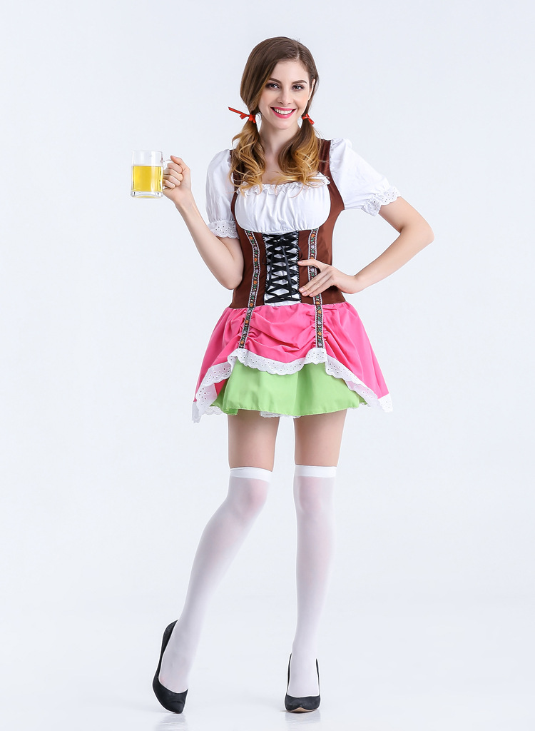 Sexy Women Oktoberfest Beer Girl Costume Traditional German Wench Beer Maid Girl Fancy Dress Carnival Party Costume