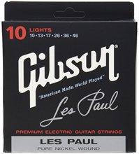 Gibson seg-lp10 Les Paul niquelado eléctrico Guitarras cuerdas, medidor de luz