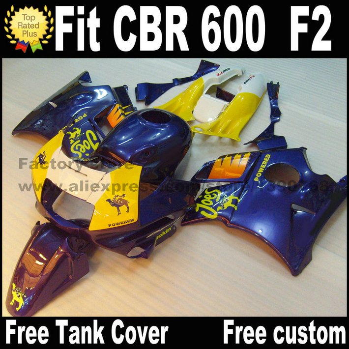 Full fairing kit for HONDA CBR 600 F2 1991 1992 1993 1994 fairings CBR600 91 92 93 94 blue yellow bodywork  CV24 white blue abs fairing bodywork kit for yamaha fzr250 fzr 250 3ln 1990 1992 91