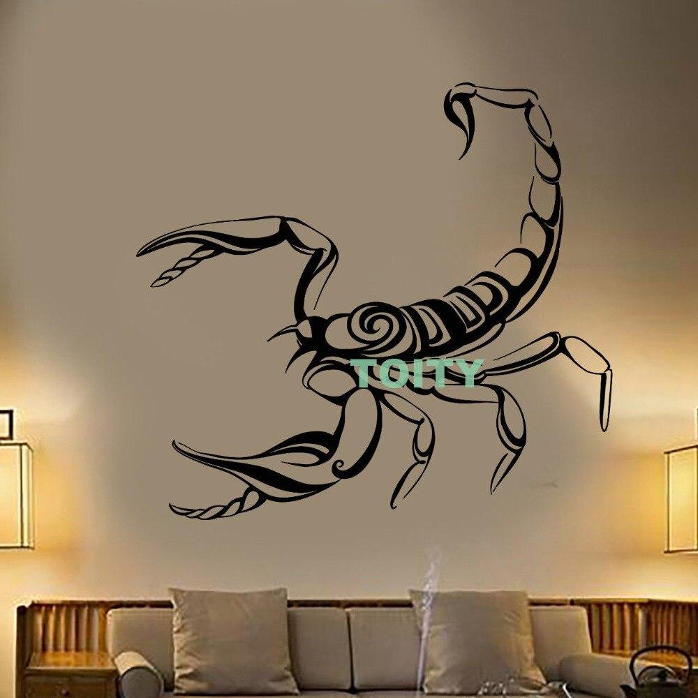 рисунок скорпиона на стене фото слой сиянием