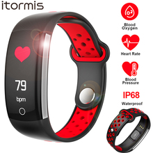 ITORMIS Q6 Smart Band Heart Rate Monitor Fitness Bracelet Blood Pressure Oxygen Smart Bracelet Fintess Tracker for Android IOS itormis smart band bracelet wristband bluetooth fitness tracker smartband heart rate blood oxygen pressure for android ios