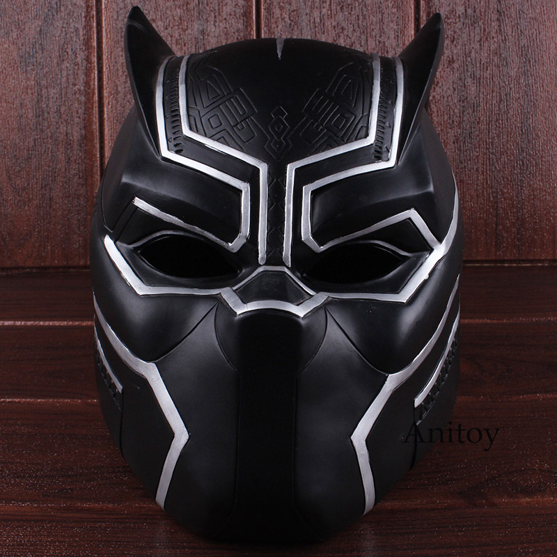 Marvel Super Hero Black Panther 2018 Movie Adult Costume Cosplay Helmet Halloween Party Supplies Cosplay Mask PVC Figure Toy cosplay v chest pirate costume w turban eyeshade black